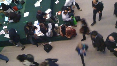 A blur of activity at the Bella Center