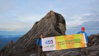 .... and at the top of Mount Kinabalu, southeast Asia's highest mountain