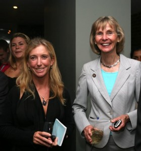 Roz Savage with Rep. Lois Capps. 23rd District, Calif, at Ocean Champions reception