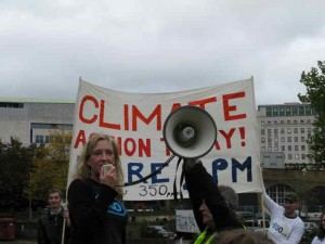 Speaking today at London's 350 event. Photo by Mary Kadzielski.