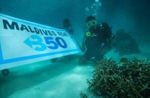 350 underwater in the Maldives