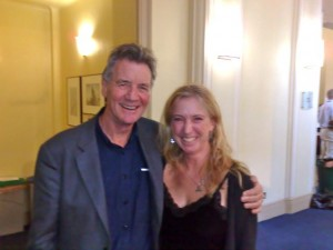 Michael Palin (photogenic) and me (not photogenic) at the RGS today