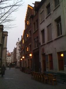 Hotel Postiljon at dawn this morning