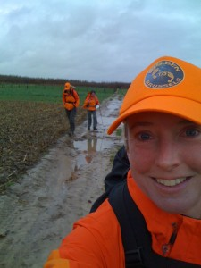 Laura, Jane and Roz - and lots of mud