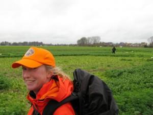 Roz in Belgium - entering the last few miles