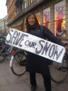 Alison Gannett - never off duty when it comes to Saving Our Snow from the effects of climate change