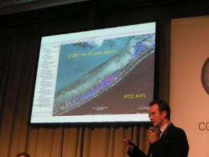Dr Robert Keen presents the 2100 scenario - bad news for Kiribati