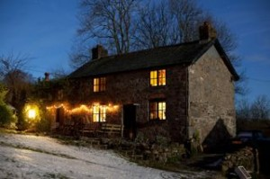 Romy's farmhouse outside Carno, Wales