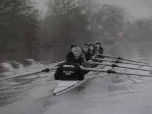 Me in the stroke seat of the Oxford Lightweights, 1989