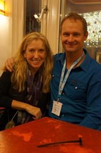 With Rob Hamill at the IDFA