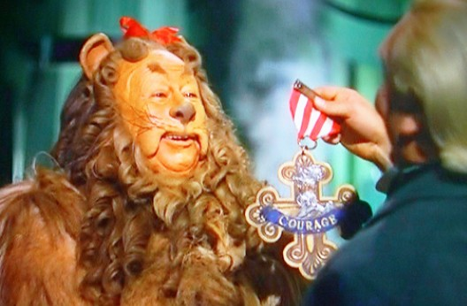 Courage, the Cowardly Lion, and a Couple of Wolves